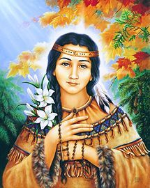 Saint Kateri Tekakwitha pray for us and the environment and ecology. Feast day July 14.