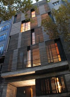 Sliding window shutters that act as the facade, make it organic and move through…