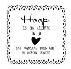 Muursticker Hoop...