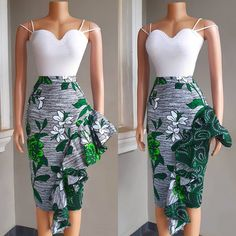 'TANA' frill skirt😍 Perfect for all occasions ❣ Team green💚 or Team blue💙 Short African Dresses, African Inspired Fashion, Latest African Fashion Dresses, African Print Fashion, Ankara Fashion, Africa Fashion, Tribal Fashion, Short Dresses, African Print Skirt