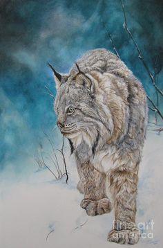 Lady Lynx Painting  - Nonie Wideman