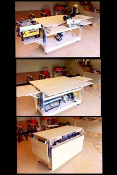 Mobile Work Bench. Via Family Handyman…
