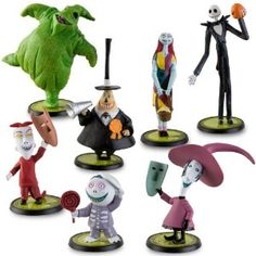 Table and/or cake decorations(?) - Disney Tim Burton's The Nightmare Before Christmas Figure Play Set