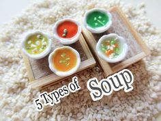 5 Types of Soup - Polymer Clay Miniature Tutorial - YouTube