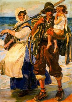 The Family by José Mongrell Torrent (1870-1937, Spain)