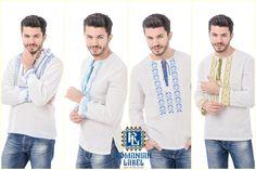 Camasi traditionale pentru barbati. #romanianlabel #men #folkloric #traditional Embroidery, Coat, Jackets, Collection, Fashion, Down Jackets, Moda, Needlepoint, Sewing Coat