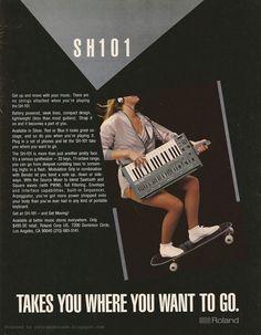 These retro Roland adverts are perfect Music Machine, Drum Machine, Easy Guitar, Guitar Tips, Dj Music, Your Music, Vintage Advertisements, Vintage Ads, Vintage Music