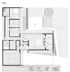 Gallery - House with ZERO Stairs / Przemek Kaczkowski + Ola Targonska - 14 - House Plans, Home Plan Designs, Floor Plans and Blueprints Home Design Floor Plans, Plan Design, House Floor Plans, Modern House Plans, Small House Plans, The Plan, How To Plan, Plan Plan, Single Level Floor Plans