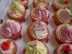 Pretty 50th Birthday Cupcake Giftbox