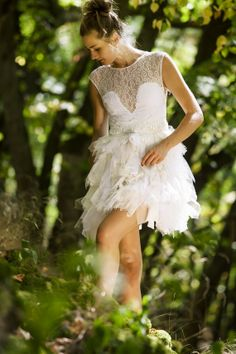 Hey, I found this really awesome Etsy listing at http://www.etsy.com/listing/160385580/short-white-tulle-dress-with-lace