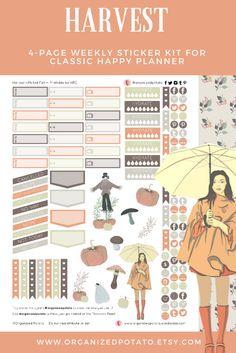 Rainbow Hexagon Printable Planner Stickers, Large Hexagon stickers, ECLP /  MAMBI Happy Planner Printables