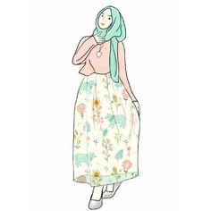 pastel mood for ramadhan   #pastel #illustration #hijab #sketchbookx #cartoon #artwork #doodle