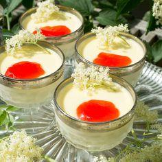 Holunderblüten-Milchgelee Panna Cotta, Ethnic Recipes, Food, Gelee, Milk, Cooking Recipes, Meal, Essen