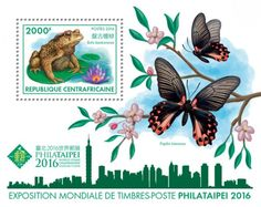 CA16415b World Expo stamps PHILATAIPEI 2016 (Bufo bankorensis)