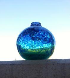 Benny Motzfeldt for Randsfjord cm Fredrikstad, Scandinavian Art, Colored Glass, Norway, Vases, Glass Art, Sculptures, Crystals, Blue