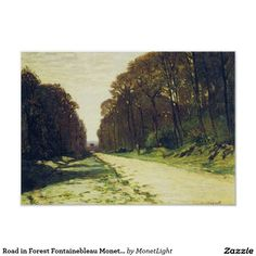 Road in Forest Fontainebleau Monet Fine Art Poster