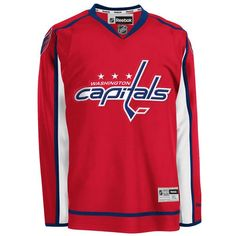 Washington Capitals Adult Reebok Premier Home Jersey - Detroit Game Gear Washington Capitals Jersey, Detroit Game, Nhl Jerseys, Black Friday Shopping, Yoga For Men, Running Women, Mens Fitness, Sports, Sport