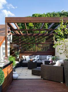 Patio roof recreation corner cosy modern rattan furniture