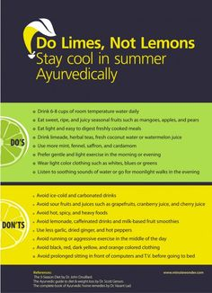 Do Limes, Not Lemons: Ayurvedic Tips For Summer