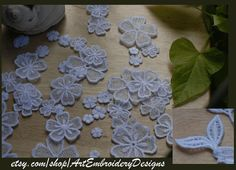 FSL (Free Standing Lace) Flowers - Machine Embroidery Designs Set for hoop 4x4""