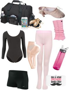 """in my dance bag"" by ashousman ❤ liked on Polyvore"