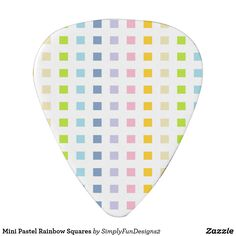 Mini Pastel Rainbow Squares Guitar Pick
