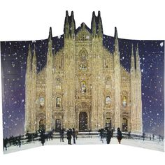 Woodmansterne Milan Cathedral Flitter Advent Calendar ❤ liked on Polyvore featuring home, home decor and holiday decorations