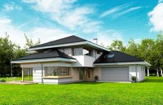 Dom z Widokiem Colonial, Home Fashion, Design Projects, House Plans, Shed, Villa, Outdoor Structures, House Design, Mansions