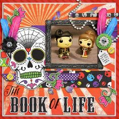 The Book of Life layout using Day of the Dead kit by Laura Banasiak http://scraporchard.com/market/Day-of-the-Dead-Digital-Scrapbook.html