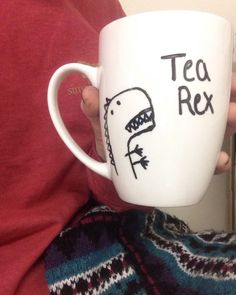 A personal favorite from my Etsy shop https://www.etsy.com/listing/256935068/tea-rex-dinosaur-mug