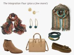 A 4 by 4 Capsule Wardrobe in Teal, Wine, Olive and Camel - The Vivienne Files How To Wear Cardigan, Teal Cardigan, Core Wardrobe, Capsule Wardrobe Work, Olive Jeans, Chevron Scarves, The Vivienne, Tan Booties, Red And Teal