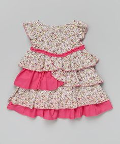 Another great find on #zulily! Purple & Pink Ruffle Floral Dress - Infant & Toddler #zulilyfinds