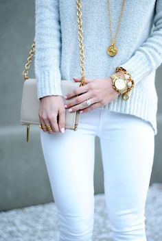 Gold and white