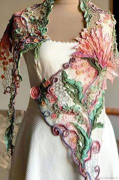 Pull Crochet, Crochet Art, Crochet Motif, Crochet Shawl, Crochet Flowers, Crochet Brooch, Crochet Tops, Irish Crochet Patterns, Crochet Designs
