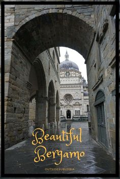 The beautiful old city of Bergamo called theCittà Alta sits high on the hill overlooking the modern city and is a quick drive from Milan. Italy | Europe