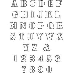 Alphabet Letters To Cut Out | Alphabet Stencil - Free Upper Case ...