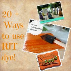 #Diy #Rit #dye #projects {thinking outside the box}