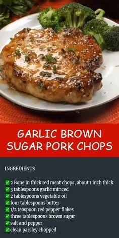Pork Chop Recipes, Crockpot Recipes, Chicken Recipes, Cooking Recipes, Pork Chop Meals, Brown Sugar Pork Chops, Brown Sugar Chicken, Breaded Pork Chops, Pork Dishes