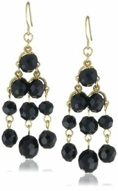 "Kenneth Cole New York ""Urban Nero"" Faceted Bead Chandelier Earrings Kenneth Cole New York. $28.00. Black faceted beads, gold tone details, chandelier silhouette Made in CN. Items that are handmade may vary in size, shape and color. Black faceted beads, gold tone details, chandelier silhouette. Made in China"