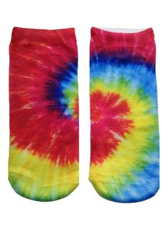 Tie Dye Ankle Crazy Novelty Pattern Socks