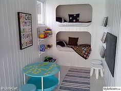 Room for Kids Built In Bed, Built Ins, Alcove Bed, Exterior House Colors, Decorating Small Spaces, Bunk Beds, Sweet Home, Inspiration, Furniture
