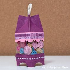 Mini Milk Carton Lamp by sung1203 - Cards and Paper Crafts at Splitcoaststampers