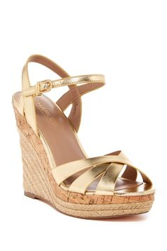 Charles By Charles David - Astro Leather Espadrille Wedge Sandal