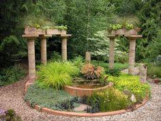 pflanzen dürrefest pergola Mediterrane Gartengestaltung wasseranlagen