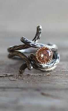 Branch Engagement Wedding Ring Set