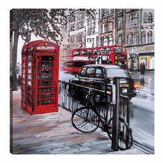 London Painting, Street Painting, London Street, London Art, Paris Art, Pictures To Paint, Art Pictures, Paul Kenton, Whatsapp Wallpaper