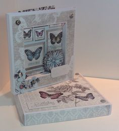 Card designed by Kath Woods Craftwork Cards, Love Box, Butterfly Kisses, Woods, Decorative Boxes, Collections, Frame, Projects, Inspiration