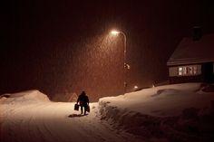 Dark Winter, Winter Night, Christophe Jacrot, Double Negative, Night Aesthetic, Horror Comics, Running Away, Winter Season, Small Towns