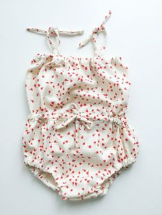 Draw String Baby Romper Tutorial- One Little Minute Blog-1