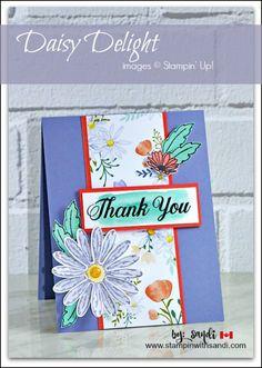 Daisy Delight Stampin Up sneak peek card by Sandi @ stampinwithsandi.com
